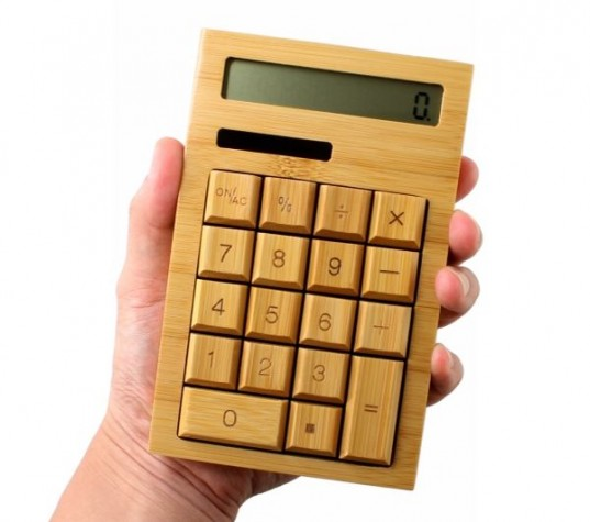 This Bamboo Calculator Is A Throwback To Old School Solar