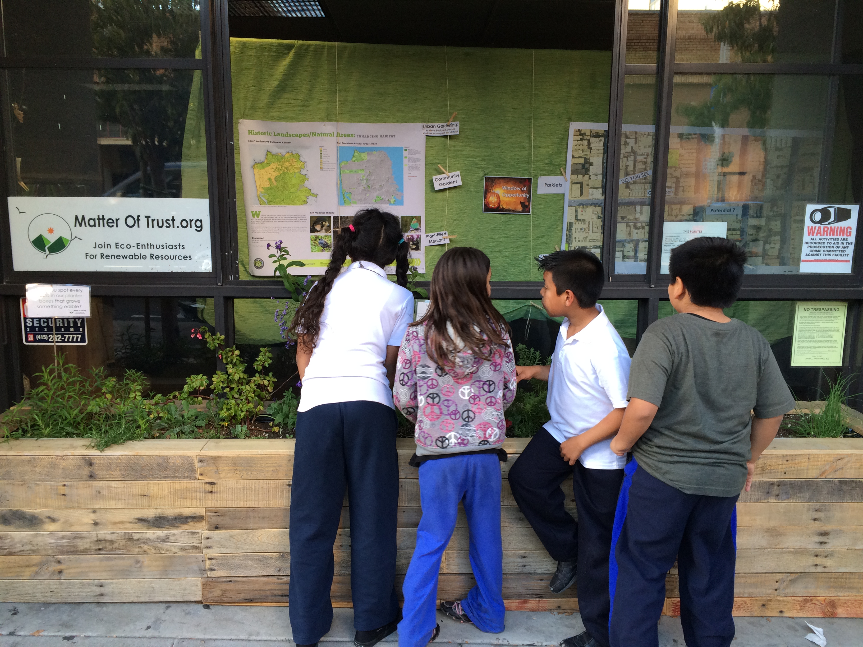 Students love urban gardens
