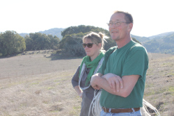 John Wick and Lynette Niebrugge, soil scientist for the Marin Resource Conservation District.