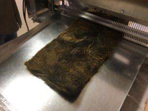 Felting mats made of hair, fur, fleece clippings  - You shampoo because hair soaks up oil!