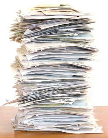 Pile of scratch paper