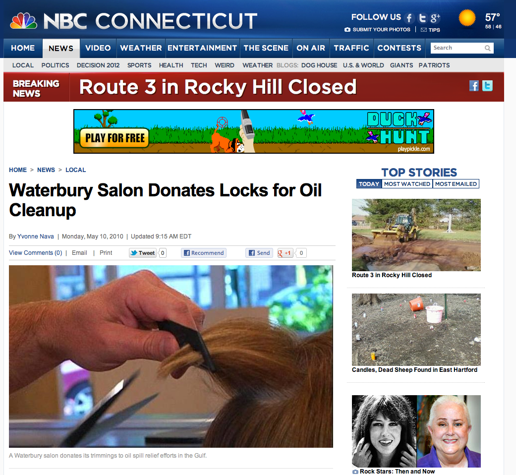 Waterbury Salon Donates Locks for Oil Cleanup